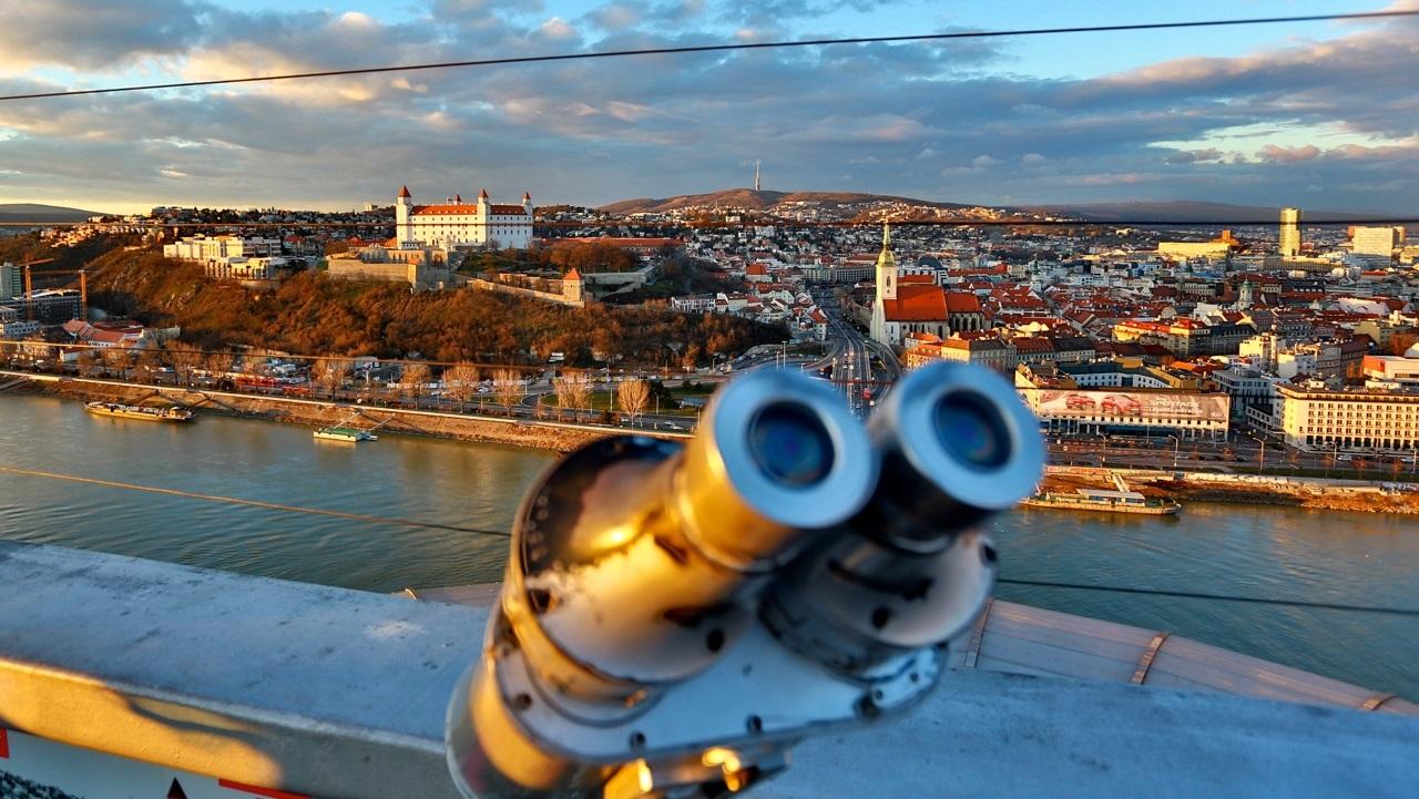 Bratislava castle panoramic view
