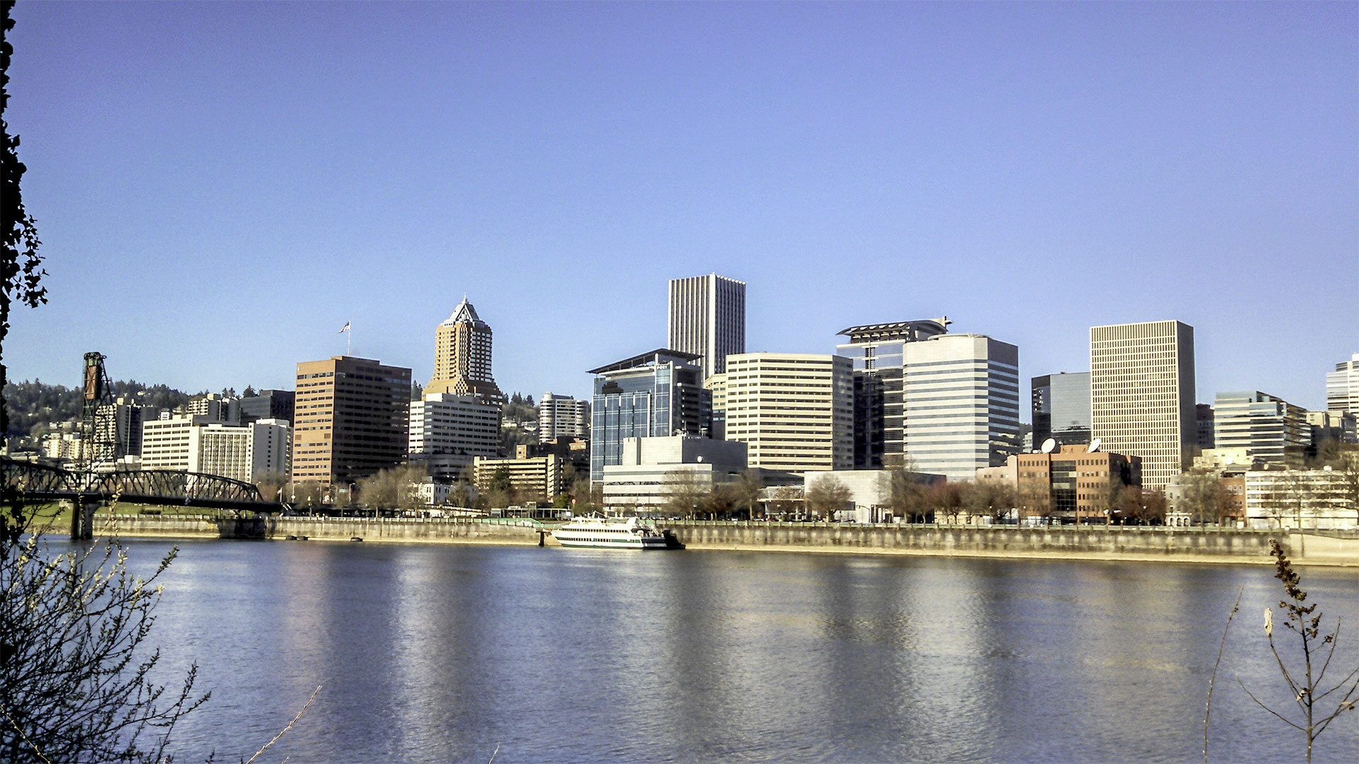 Panoramic sight of Portland city